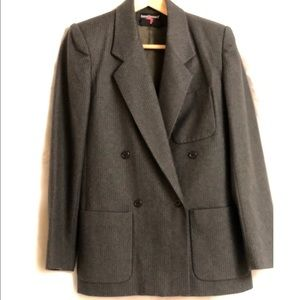 Ladies 100% Wool Pinstripe Suit XCLNT CONDITION